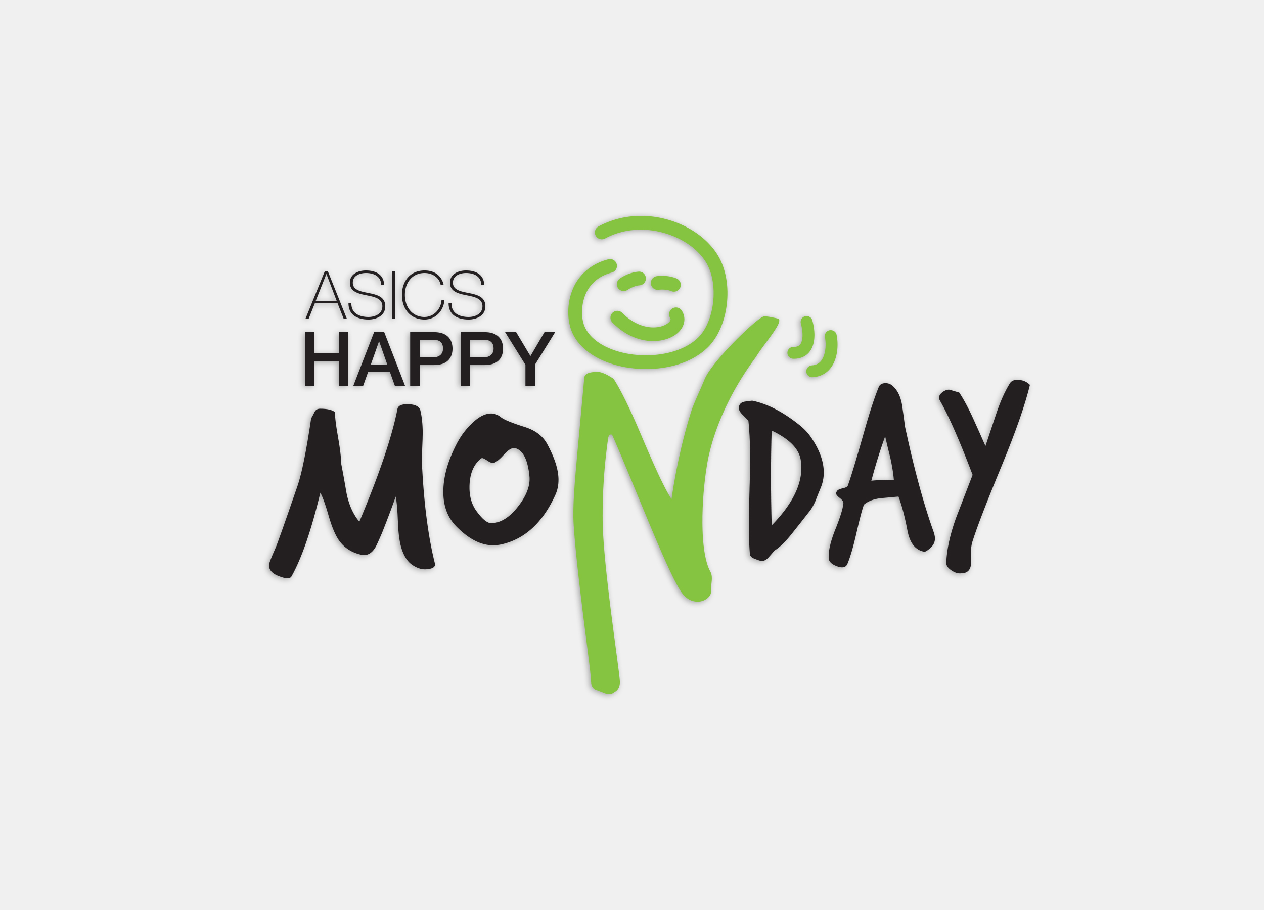 ASICS Happy Monday Event Logo